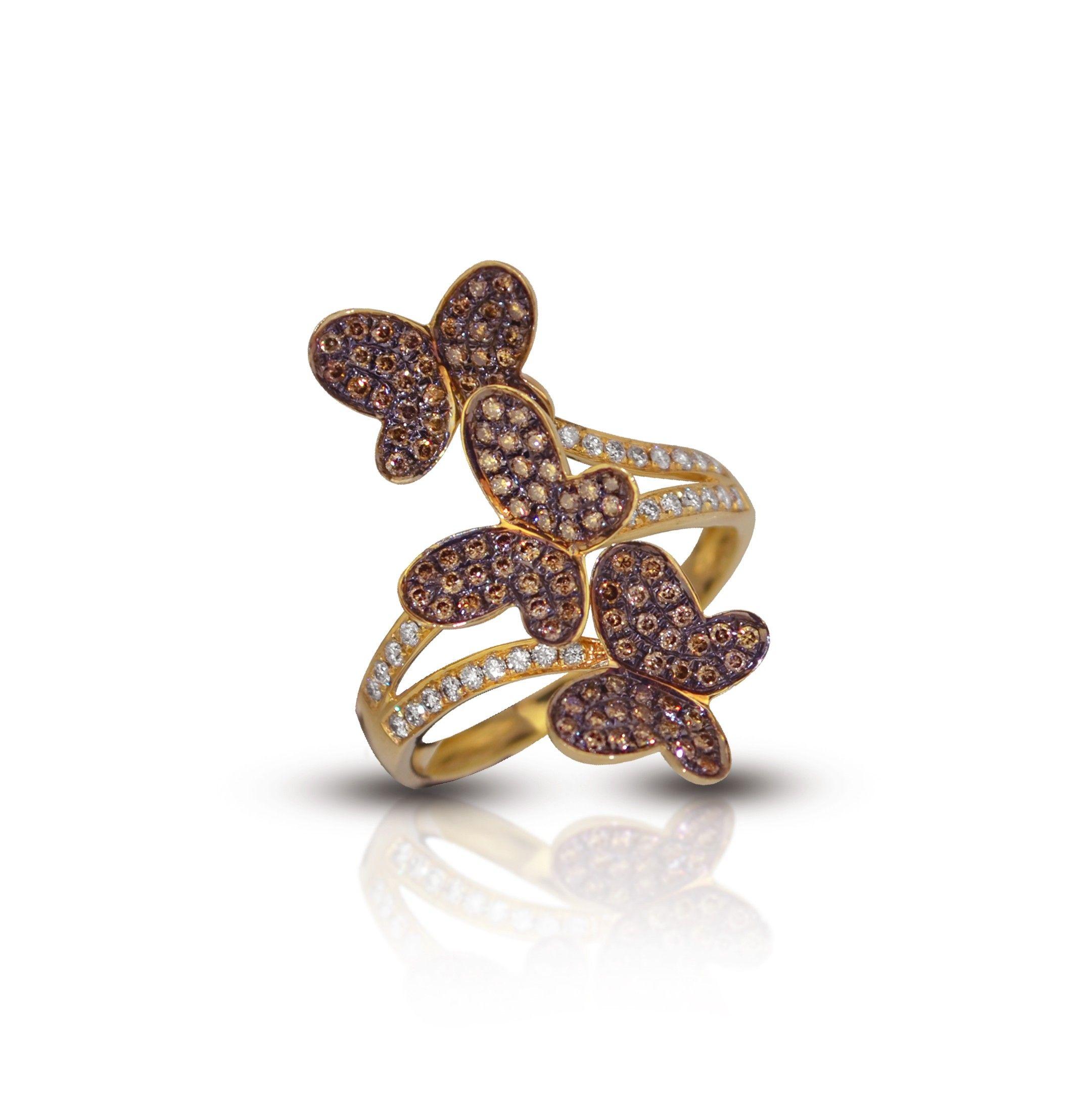 le vian wedding bands levian chocolate diamond bridal sets Home Le Vian 14K Yellow Gold Triple Butterfly Chocolate