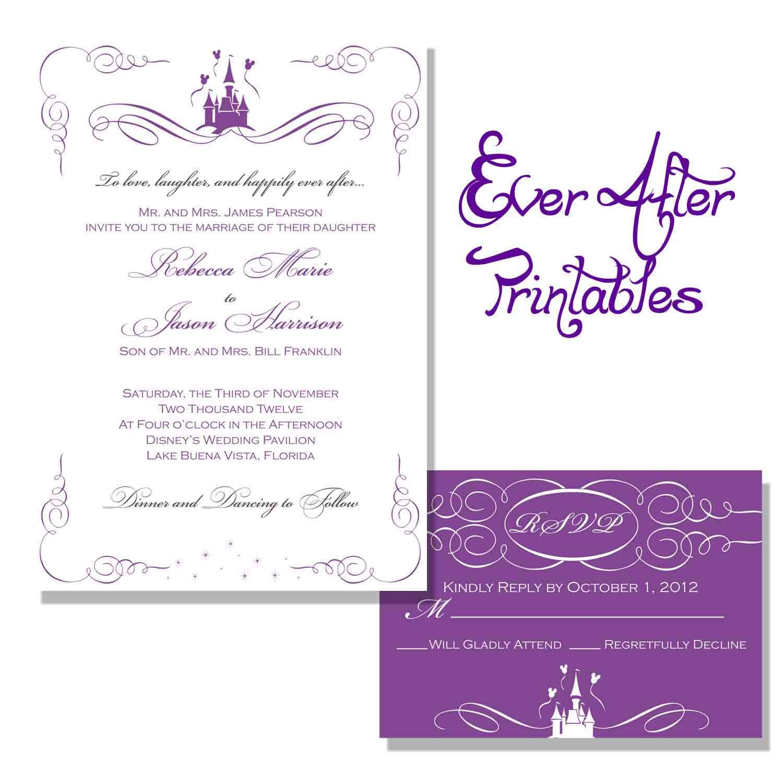 wedding invite template free disney wedding invitation templates Google Search