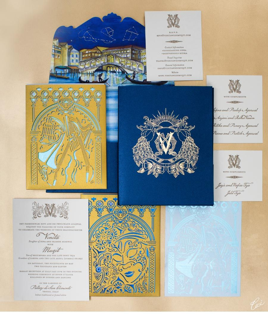 indian wedding invitations Be inspired by Vinita Muqits elaborate Indian wedding