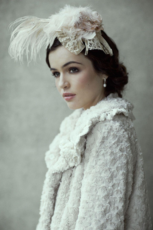 wedding dress accessories romantic bridal accessories winter wedding fur cape feather hair piece