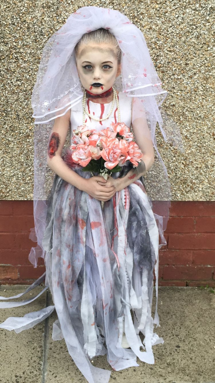 wedding dress halloween costume Halloween zombie bride kids fancy dress More