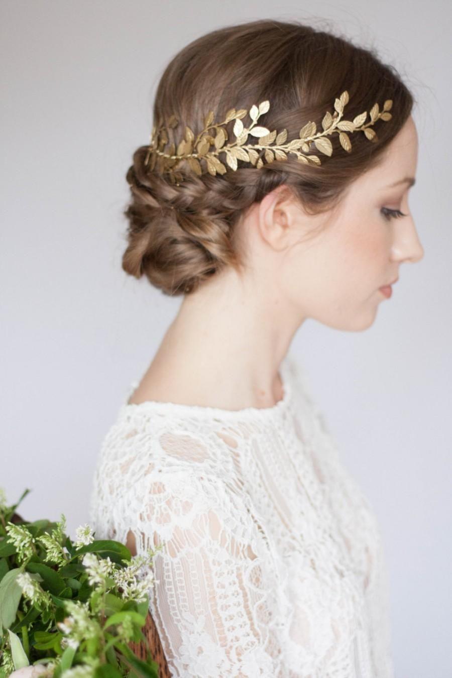 wedding headpiece Alena Wrap Headpiece Gold leaf circlet crown bridal headpiece leaf coronet bohemian headpiece boho greek crown greek coronet