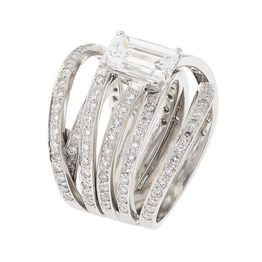 buy wedding rings contemporary wedding rings for women Contemporary White Gold Diamond Ring Buy White Gold Diamond