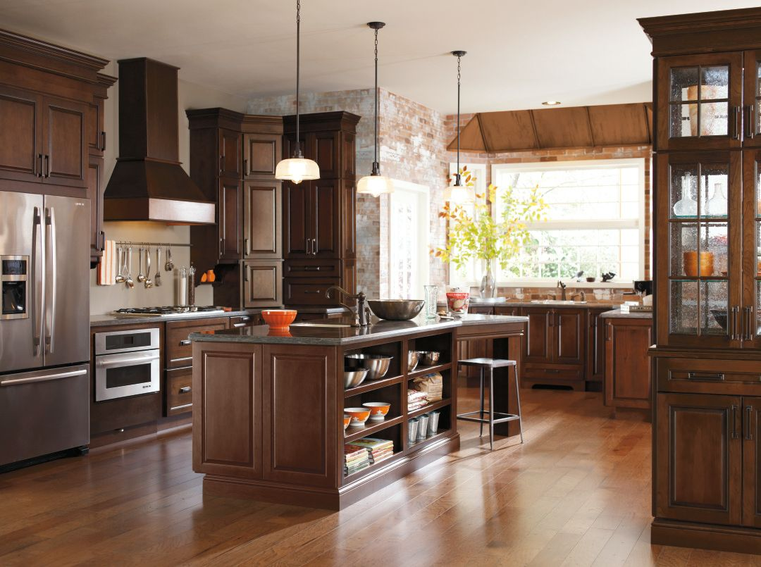 kitchen diamond kitchen cabinets Real life meets high style with this transitional dark cherry kitchen from Diamond Cabinetry The