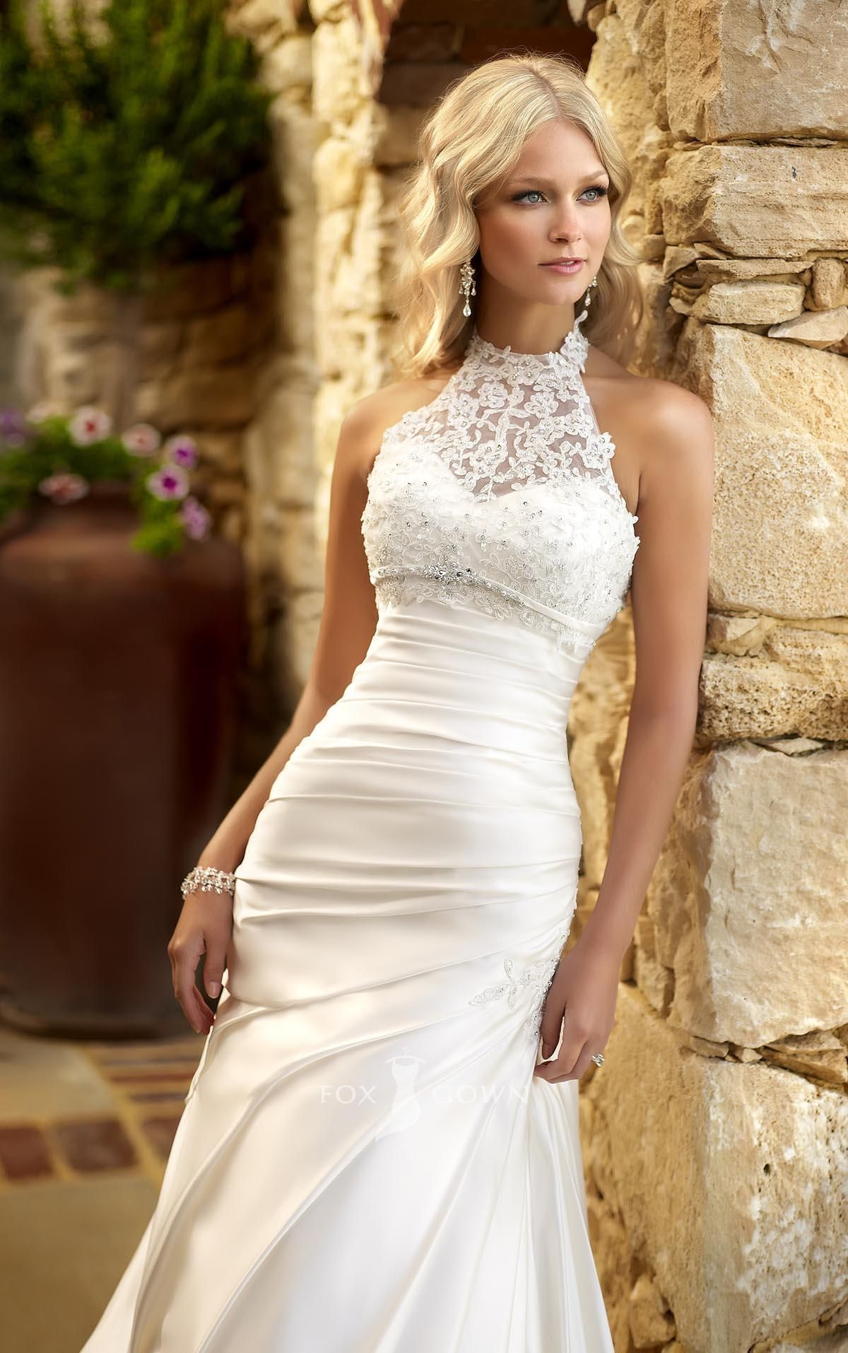 halter top wedding dresses 22 Must See Spring Wedding Dress Trends
