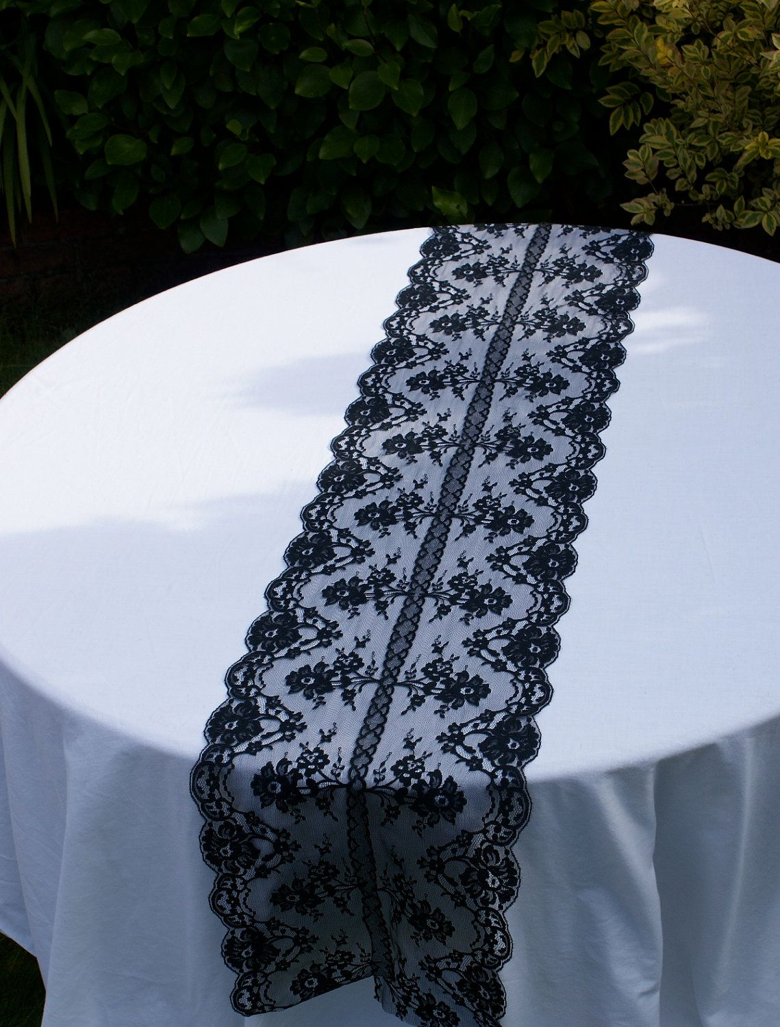 wedding table runners runners for weddings Black lace table runner for your special by Littlewhiteboutique