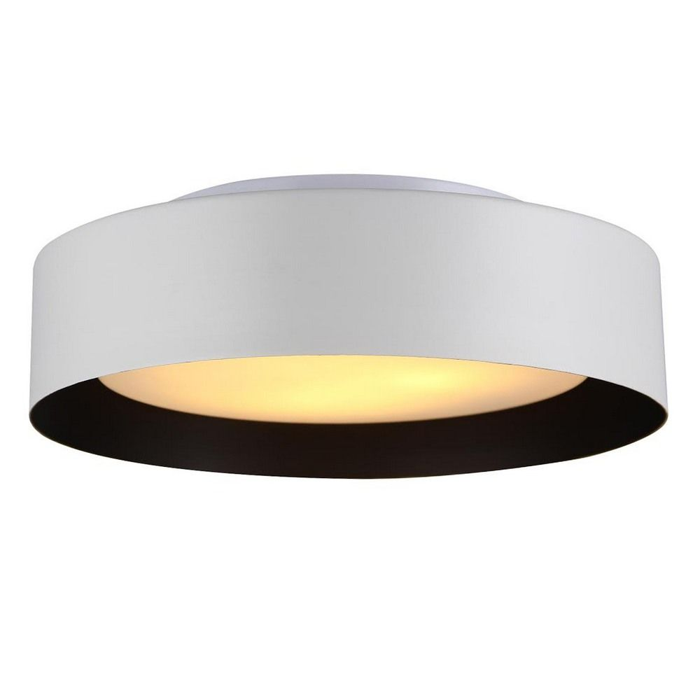 flush mount kitchen lighting hallway light option Bromi Design Lynch Black Three Bulb Flush Mount Light BOBB