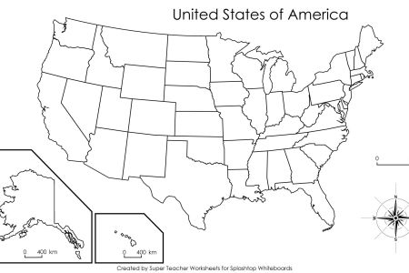 blank united states map with capitals bing images | kids