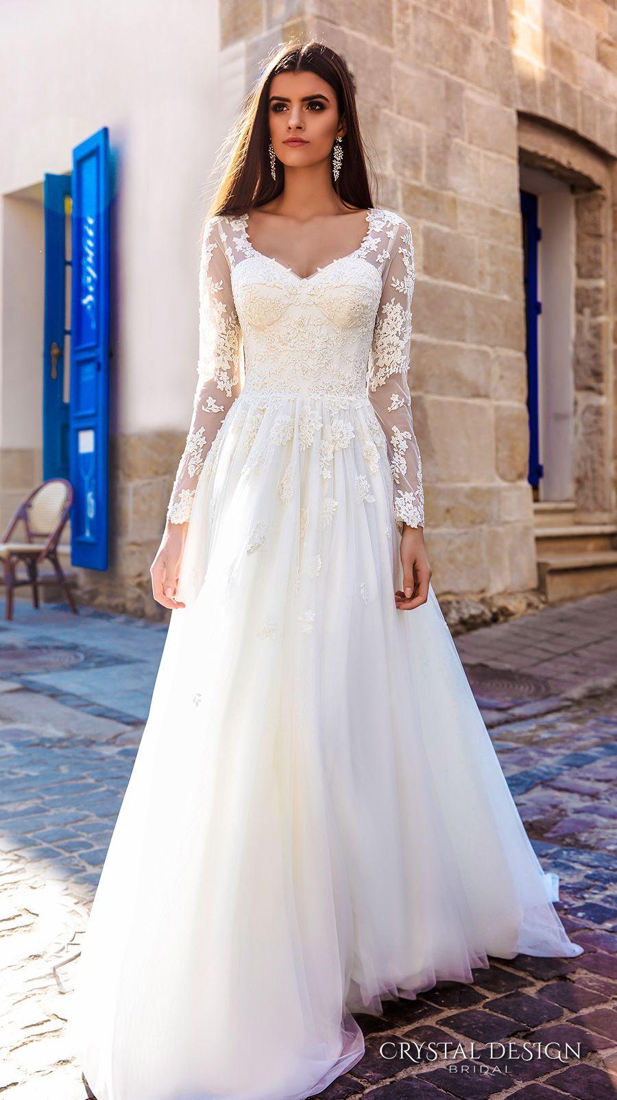 sheer top wedding dress Bridal