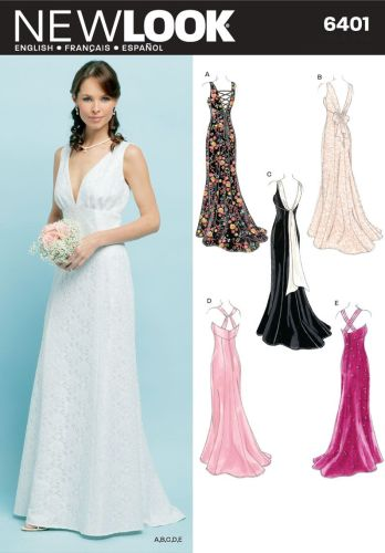 wedding dress sewing patterns simplicity special occasion formal dress pattern Newlook On the