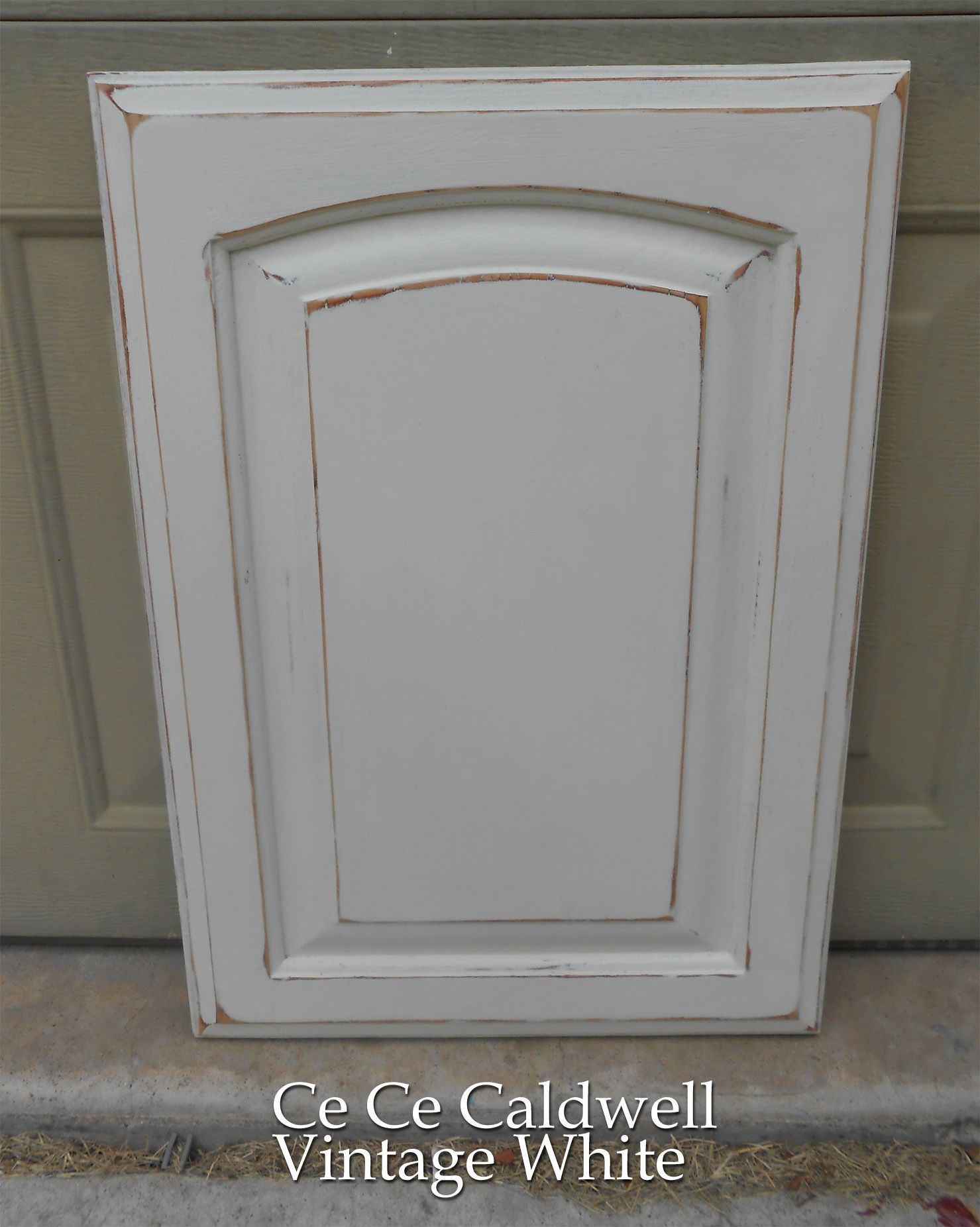 paint kitchen cabinets white Using Chalk Paint for Oak Kitchen Cabinets test door