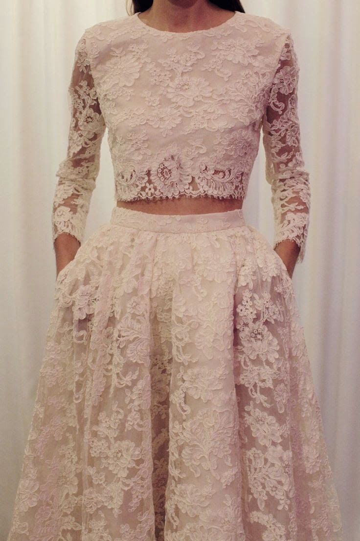 wedding dress 2 piece 10 Stunning Ideas for a Two Piece Wedding Dress