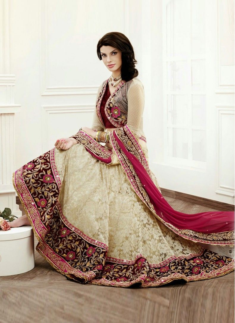 wedding lehenga Rejoicing Beige Wedding Lehenga Choli Evolve into a jewel of inestimable value dressed in this beige