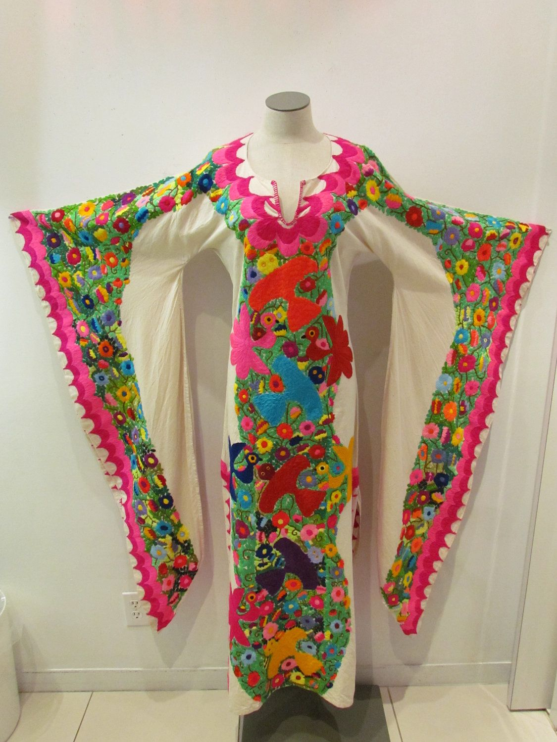 mexican wedding dress mexican embroidery designs Beautiful Hand Embroidered Mexican Dress from the State of Jalisco