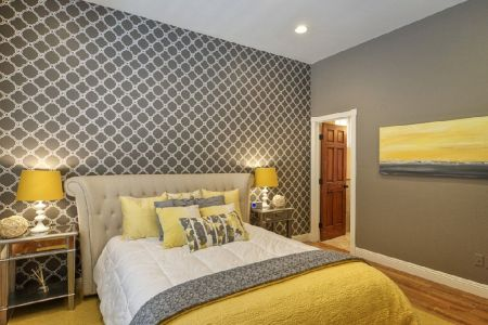 chic yellow and grey bedroom. | bedroom | pinterest | more