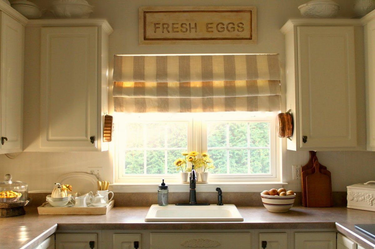 kitchen window treatment ideas single window over sink Google Search