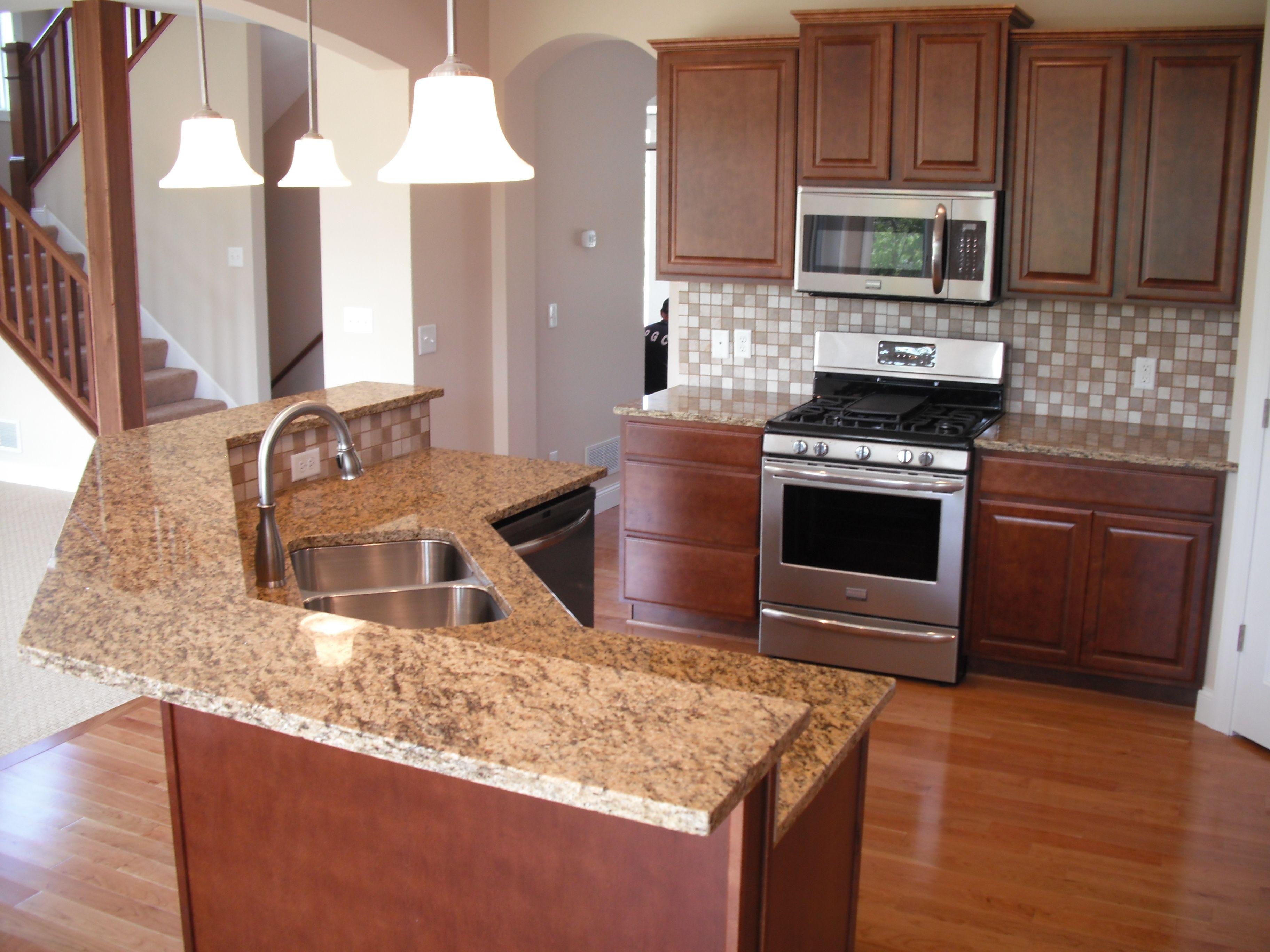kitchen ideas granite kitchen island two tier kitchen island ideas St Cecilia Dark 2 Tiered Granite Island