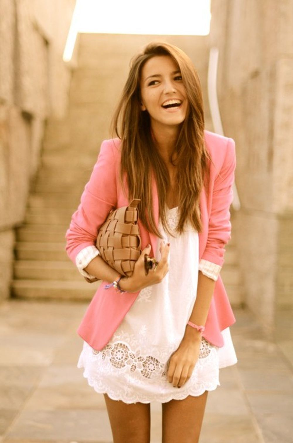 dresses for summer wedding a girl at a spring or summer wedding wearing a lace dress and pink blazer