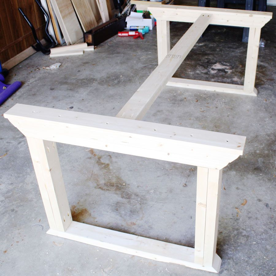 diy kitchen table plans How to build a farmhouse table Diy Dining