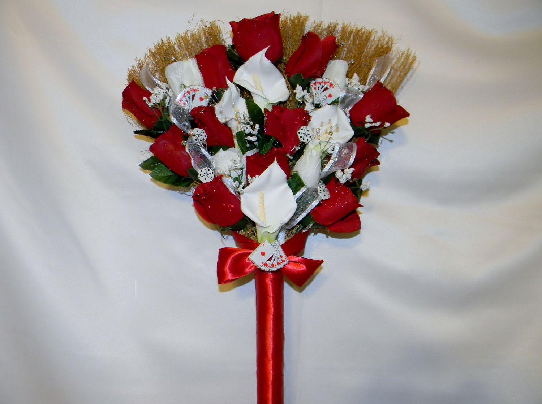 wedding brooms pictures of wedding brooms Wedding Jumping Broom custom made white red black Las Vegas theme