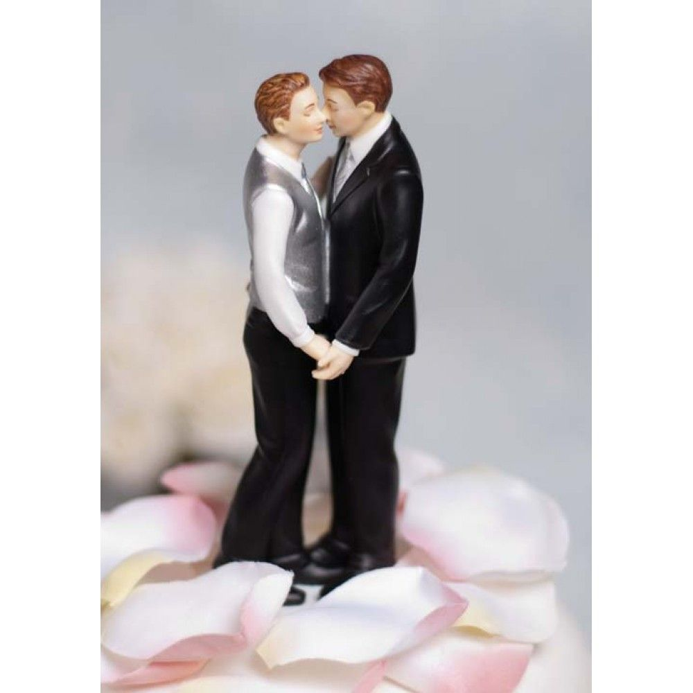 gay wedding bands Gay Wedding caketopper hand painted with attention to every detail including small 14K