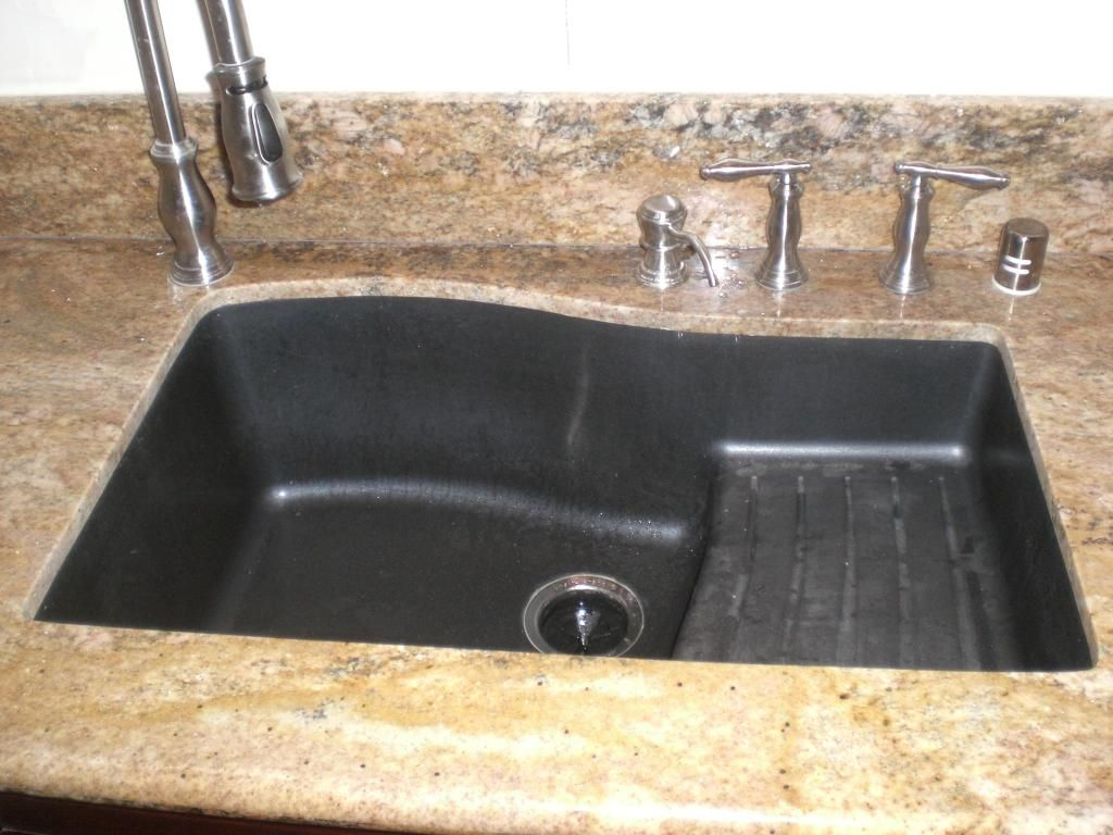 just the kitchen sink stainless kitchen sinks Kitchen Handsome Kitchen Decoration With Black Granite Composite