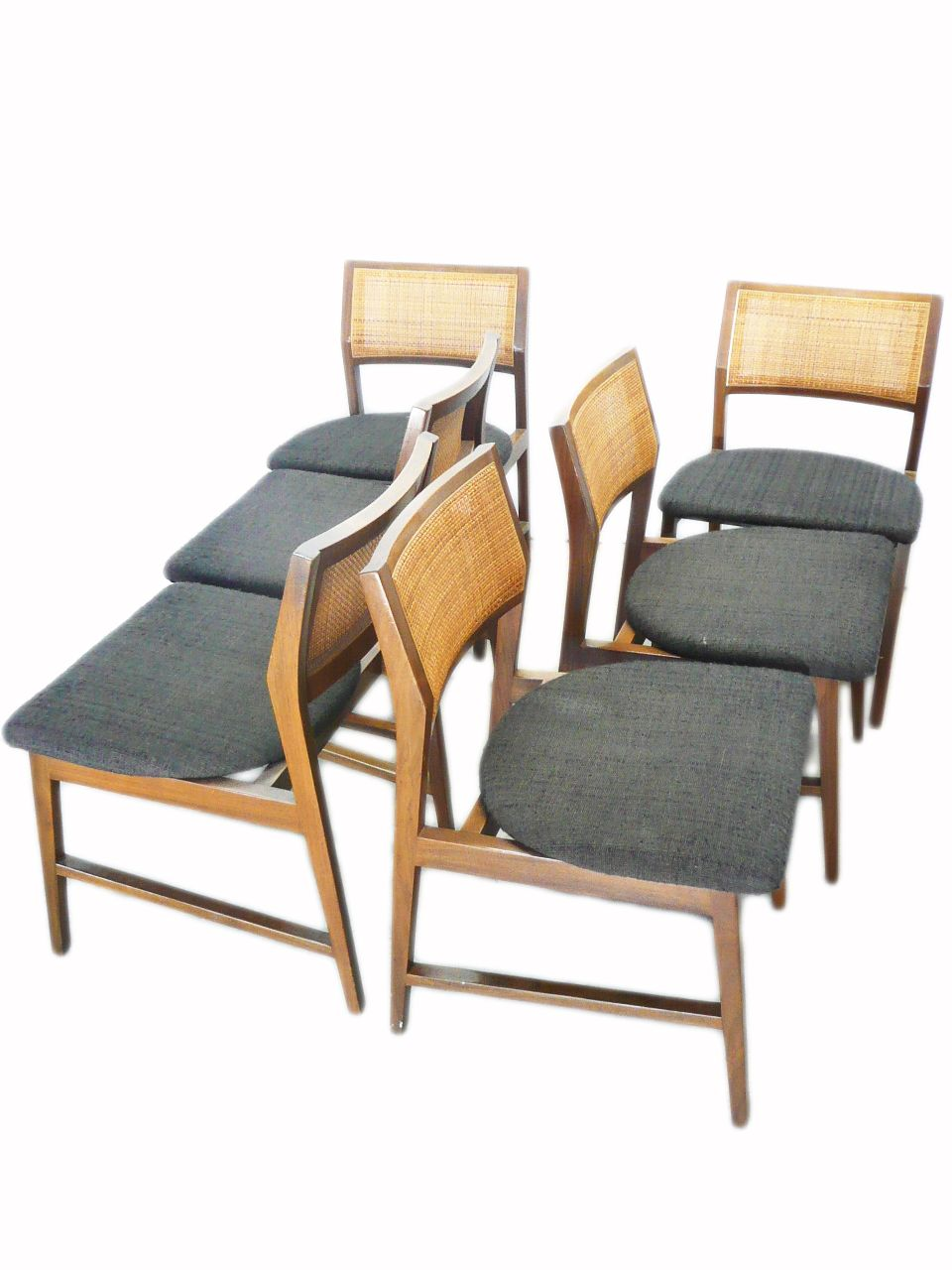 mid century kitchen chairs Mid Century Vintage Edward Wormley for Dunbar Cane Back Dining Chairs