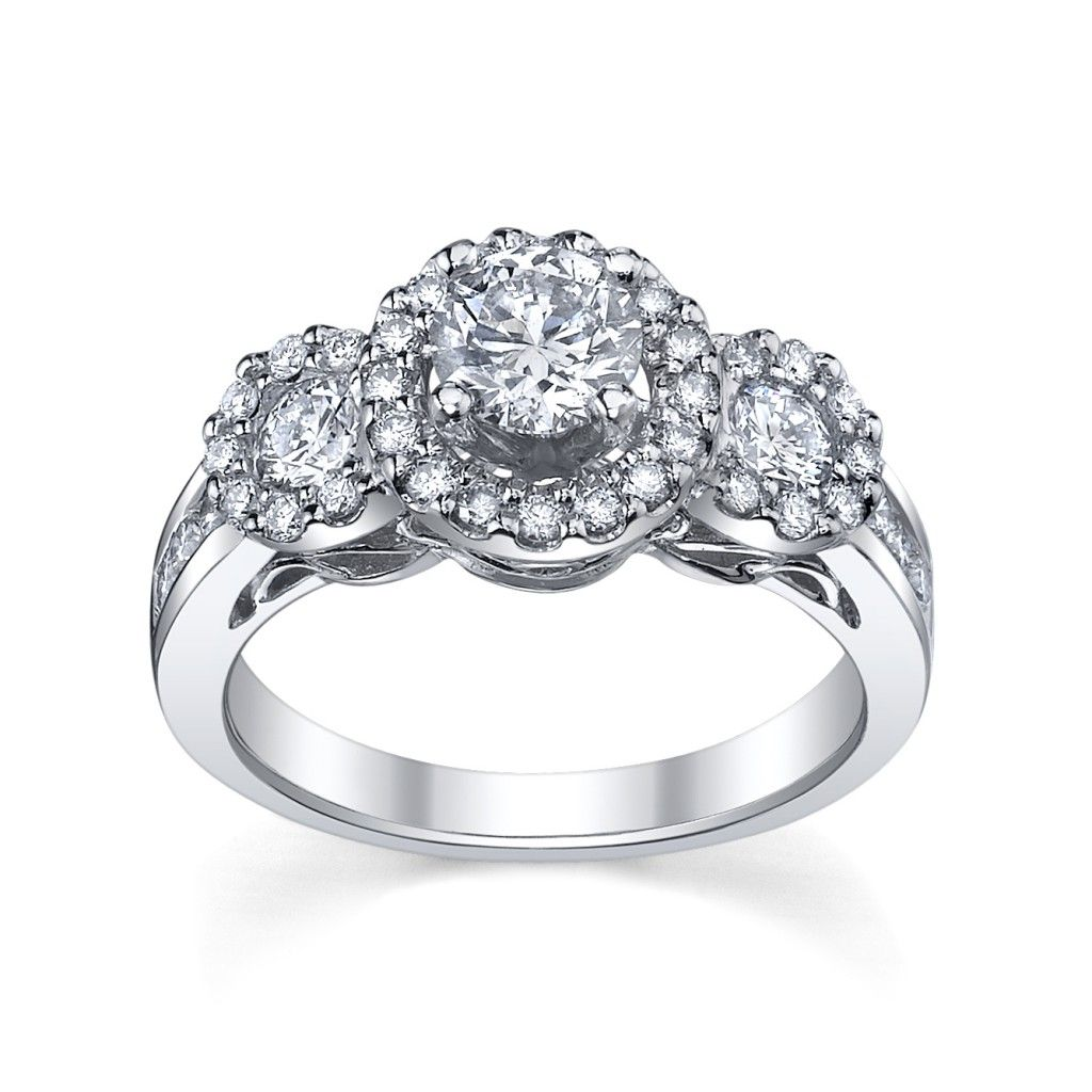 halo wedding ring images solitaire ring enhancers Halo Diamond Engagement Ring from Robbins Brothers UTwo Collection