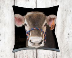 Dainty Jersey Cow Bella Decorative Pillow Throw Pillows Farm House Decor Homedecor Jersey Cow Bella Decorative Pillow Throw Pillows Farm House Cow Home Decor Cowboy Home Decor Wholesale