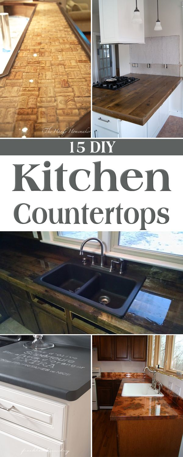 inexpensive kitchen countertops 15 Amazing DIY Kitchen Countertop Ideas