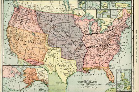 united states map, vintage map download, antique map