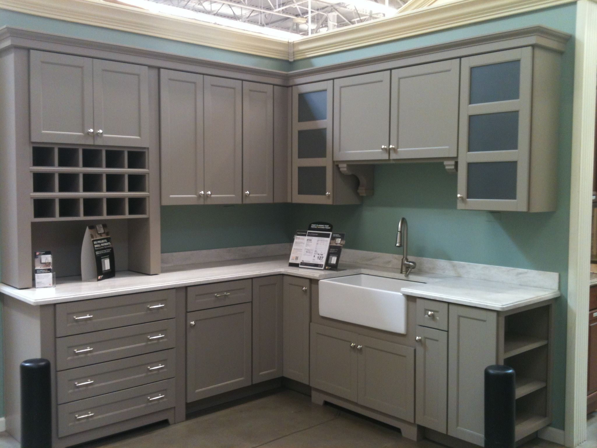 kitchen cabinets home depot Martha Stewart Cabinets from Home Depot Like the shelves on the end