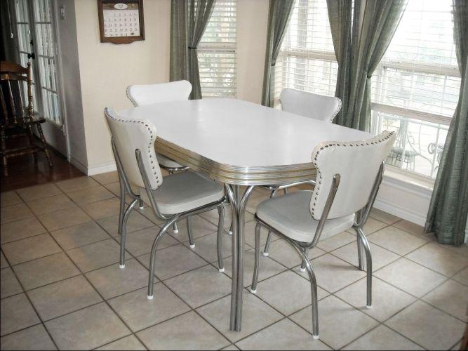 retro formica kitchen tables white kitchen table Vintage Retro s White Kitchen Dining Table Chairs