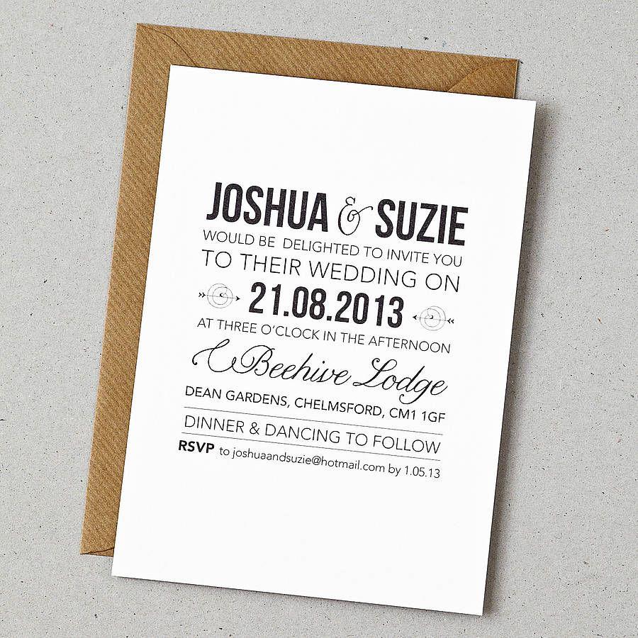 wedding invitations wording Rustic Style Wedding Invitation Invitation wording Wedding and Simple weddings