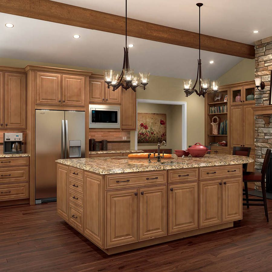 maple kitchen cabinets 30 Gorgeous Kitchen Cabinets For An Elegant Interior Decor Part 2 Glass Cabinets 17 Backsplash Pinterest Wood cabinets Cabinets and Countertops