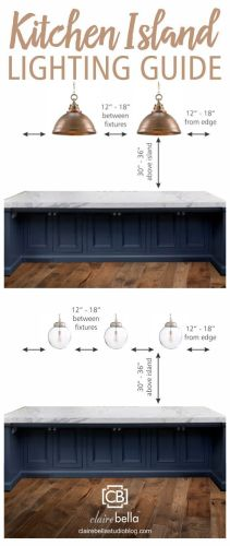 kitchen island lights Kitchen Island Lighting Guide How many lights How big How high How far apart