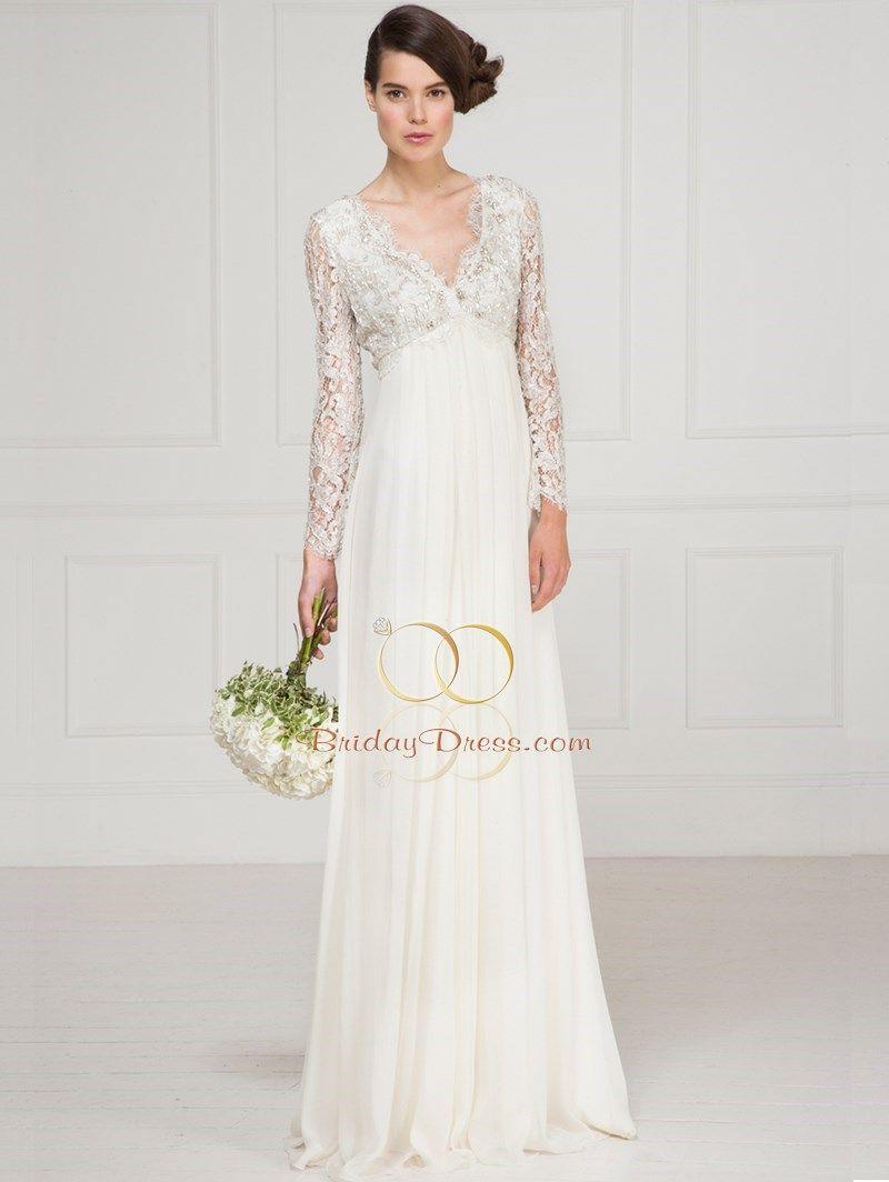 lace empire waist wedding dresses empire wedding dresses Lace Empire Waist Wedding Dresses