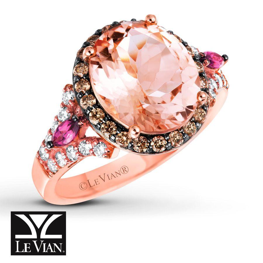 le vian wedding bands LeVian Morganite Ring from Jared Wedding Rings