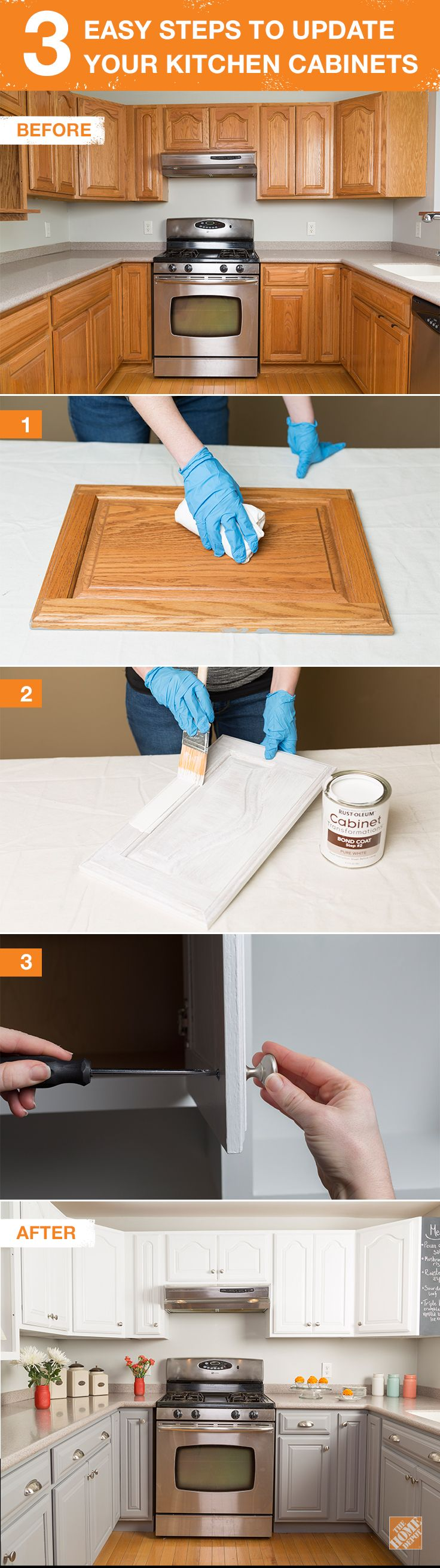 new kitchen cabinets Get the Look of New Kitchen Cabinets the Easy Way