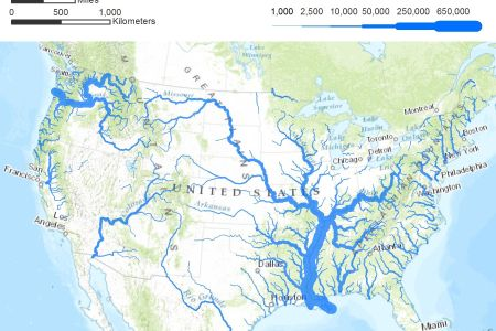 flow rates a map of the united states illustrating flow