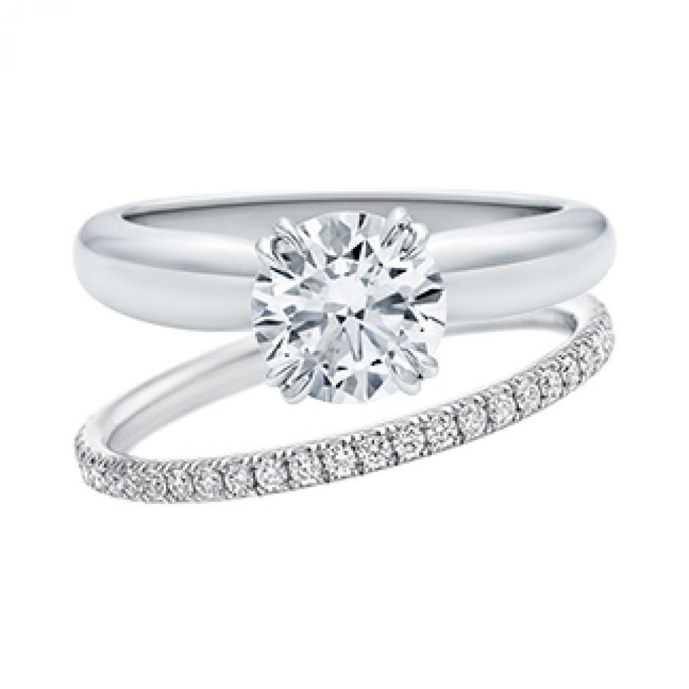 harry winston wedding rings Solitaire Round Brilliant Diamond Collar Engagement Ring Harry Winston