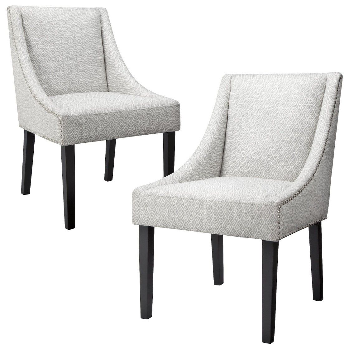 kitchen table sets target Griffin Nailhead Cutback Dining Chair Diamond Set of 2 available at target set of 2