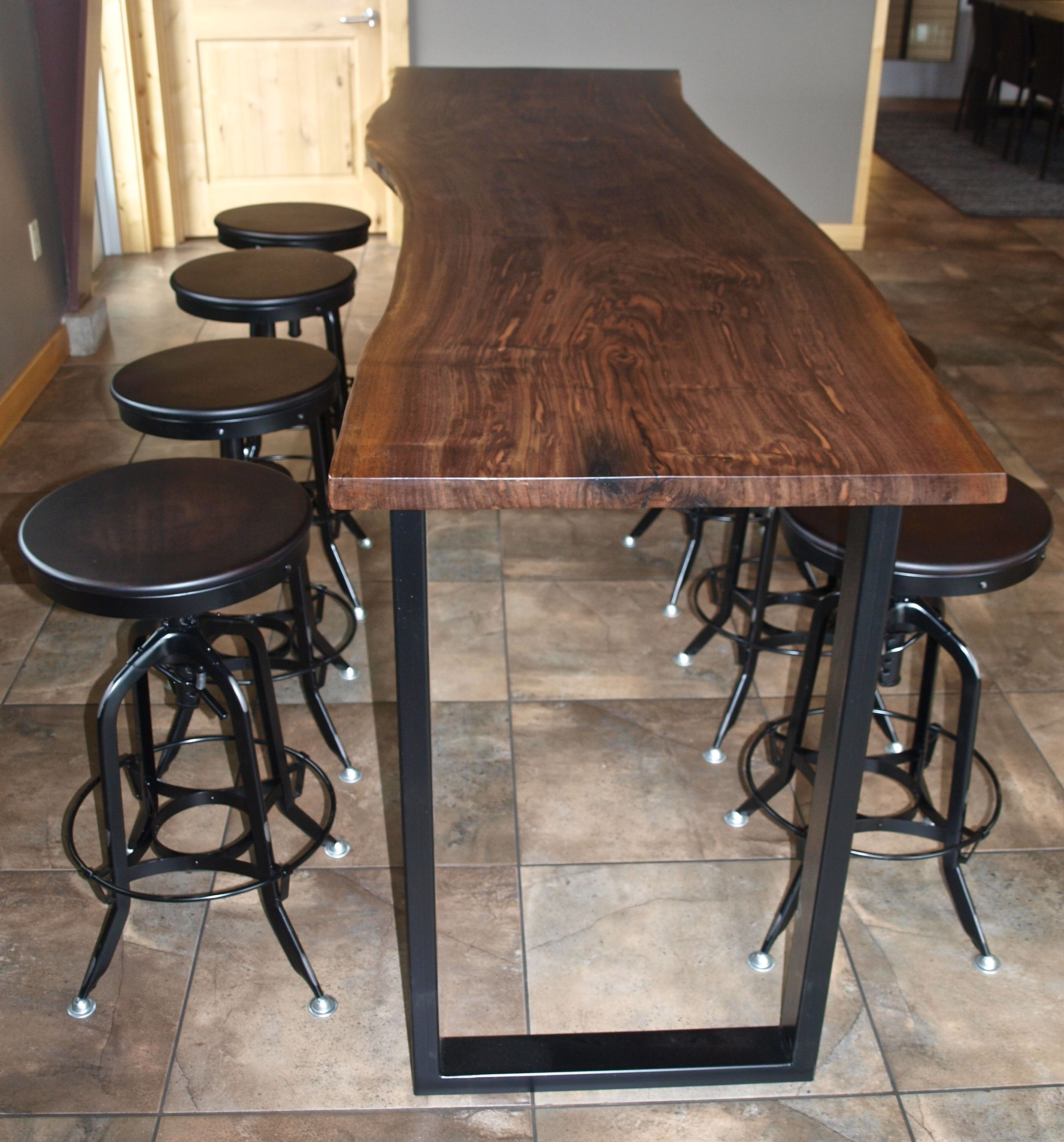 bar top kitchen tables Hand Made Bar Height Table Dining Room