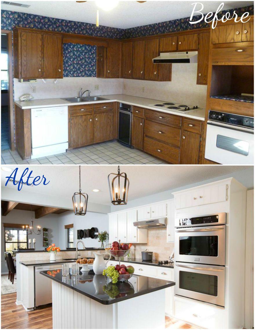 upper kitchen cabinets Fixer Upper Kitchen Makeover