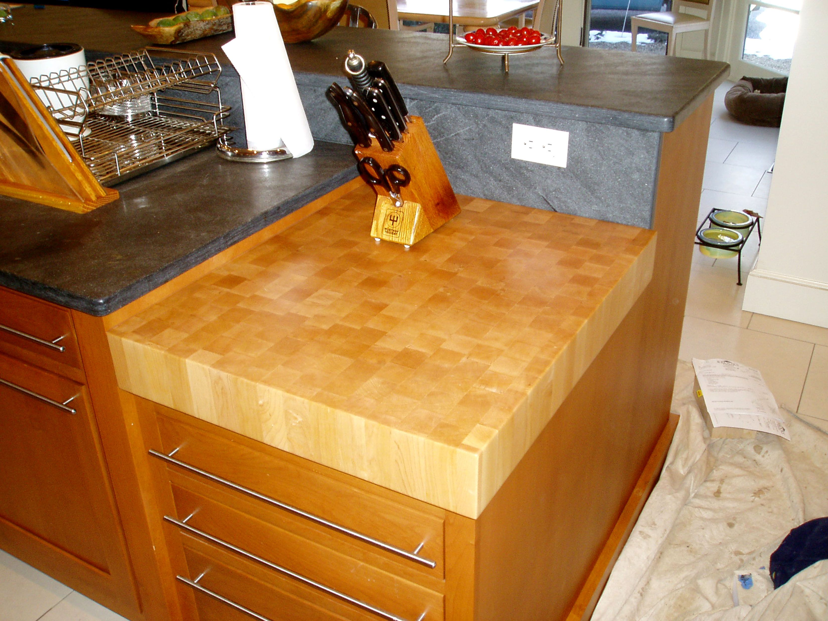 custom butcher block countertops kitchen cutting table REALLY WANT a butcher block counter top doubling as a cutting board in kitchen