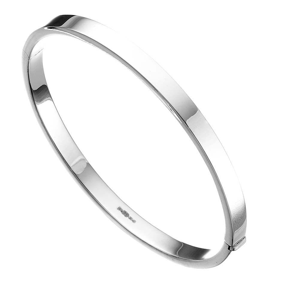 hinged wedding ring Solid Silver Round Hinged Bangle