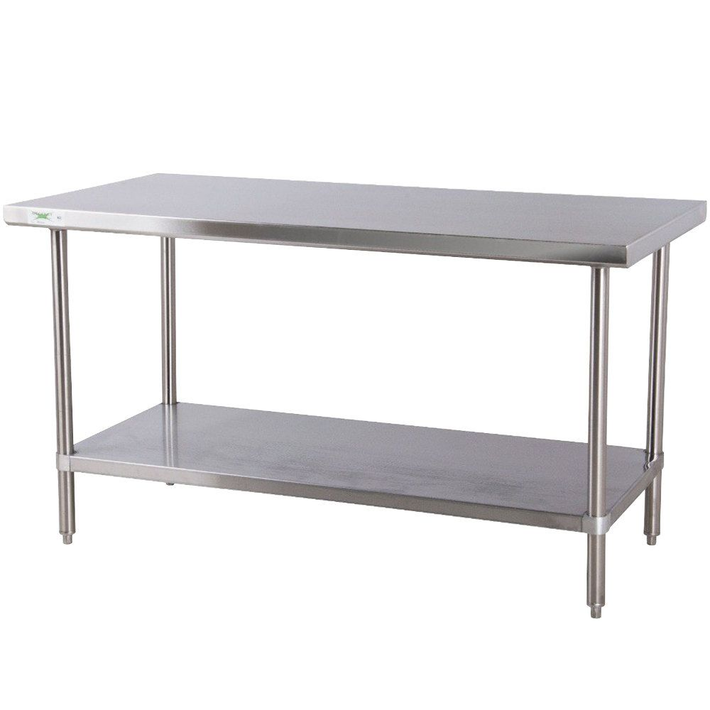 kitchen prep table Regency 30 72 16 Gauge Stainless Steel Commercial Work Table with Undershelf Food PreparationWork SurfaceKitchen