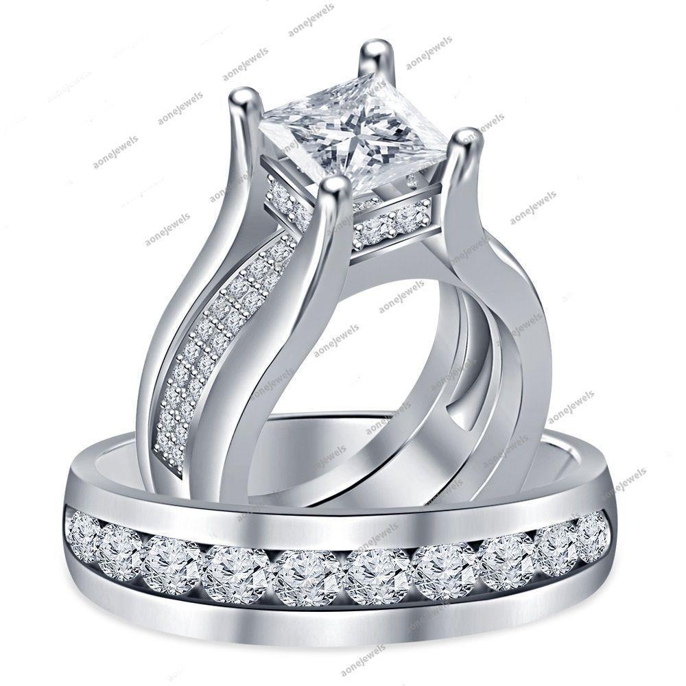 wedding wrap ring 2 Peice VVS1 Diamond Wedding Wrap Ring Wedding Band Set in Sterling Silver