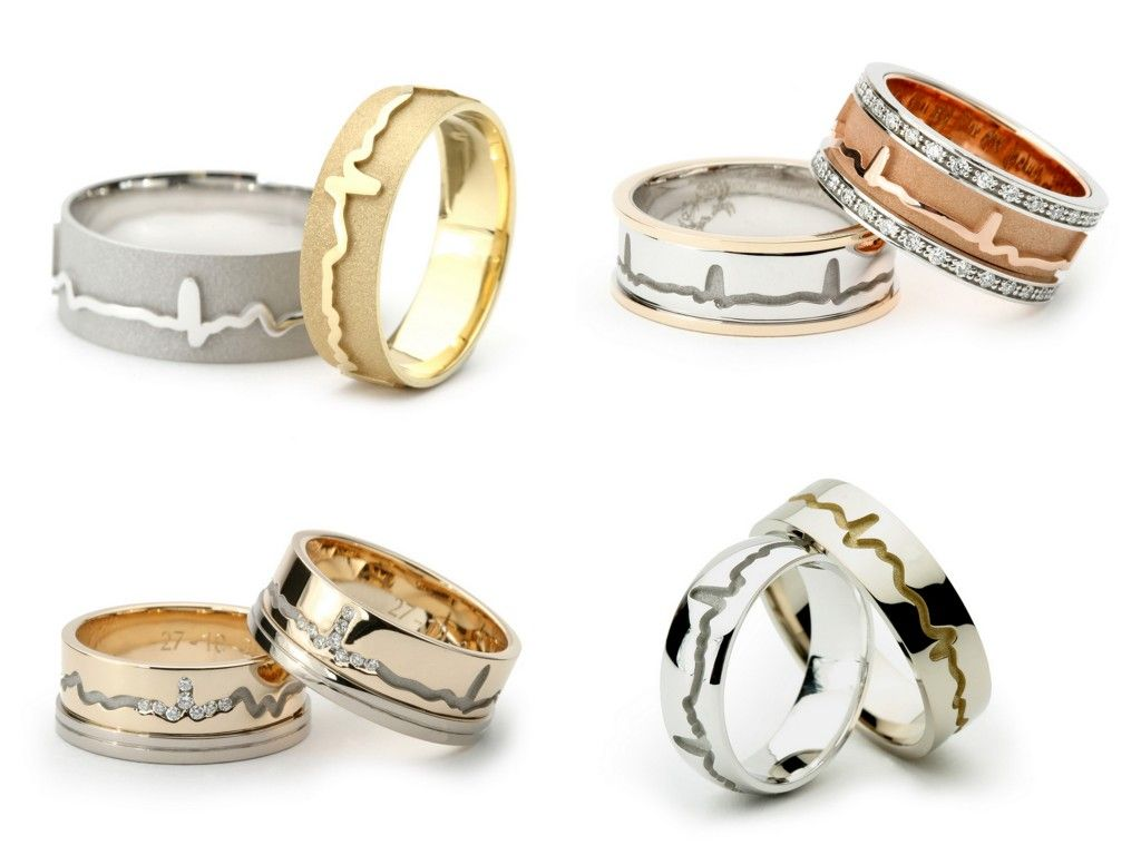 wedding bands for nurses heartbeat wedding bands