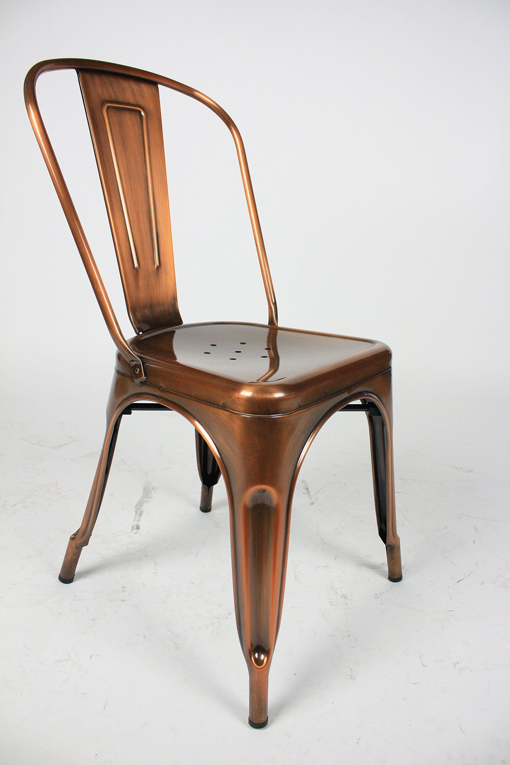 amazon kitchen chairs Amazon com Marais French Style Cafe Dining Chair in Gloss Copper Finish Adjustable